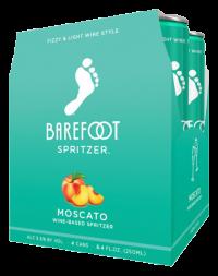 BAREFOOT REF MOSCATO 4PK_250ML_Spirits_WHITE WINE