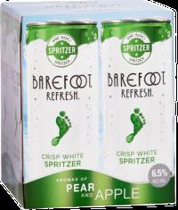 BAREFOOT REF SPRITZER PEAR 4PK_250ML_Spirits_FRUIT WINE