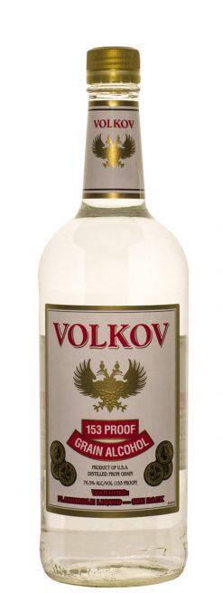 Volkov Grain Alcohol 153 Prf 1.0L