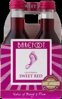 BAREFOOT SWEET RED 187ML 4PK_187ML_Wine_RED WINE