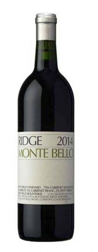 Ridge Monte Bello Cabernet 2014