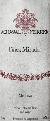 A Ferrer Finca Mirador Malbec 750ml 2012