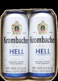 Krombacher Hell 16oz 4pk Cn