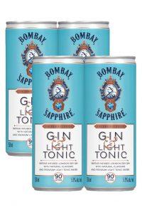Bombay Sapphire Cocktail Gin & Light Tonic 4pk