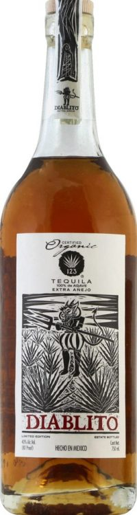 123 Extra Anejo Diablito Tequila 750ml